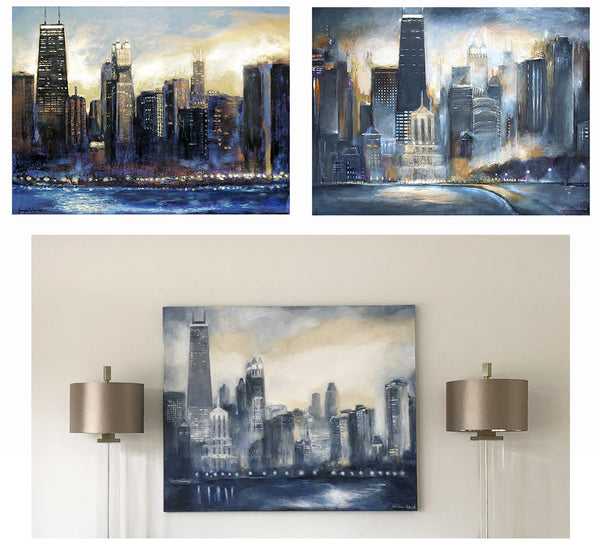 Commission a custom painting of the Chicago Skyline.