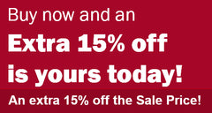 An EXTRA 15% off Today!