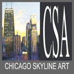 Chicago Skyline Art - Paintings and Prints