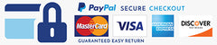 All checkouts are encrypted and secure with Paypal.