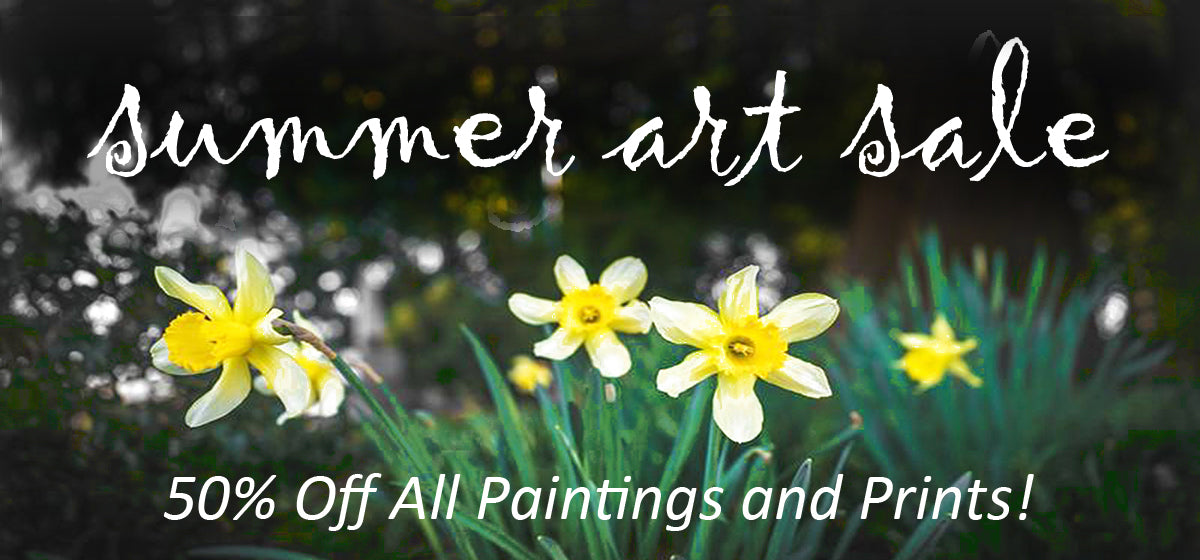 Summer Art Sale on All Canvas Wrap Prints and Original Paintings on Canvas