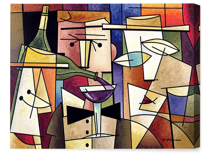 Wine art canvas prints from original contemporary wine paintings