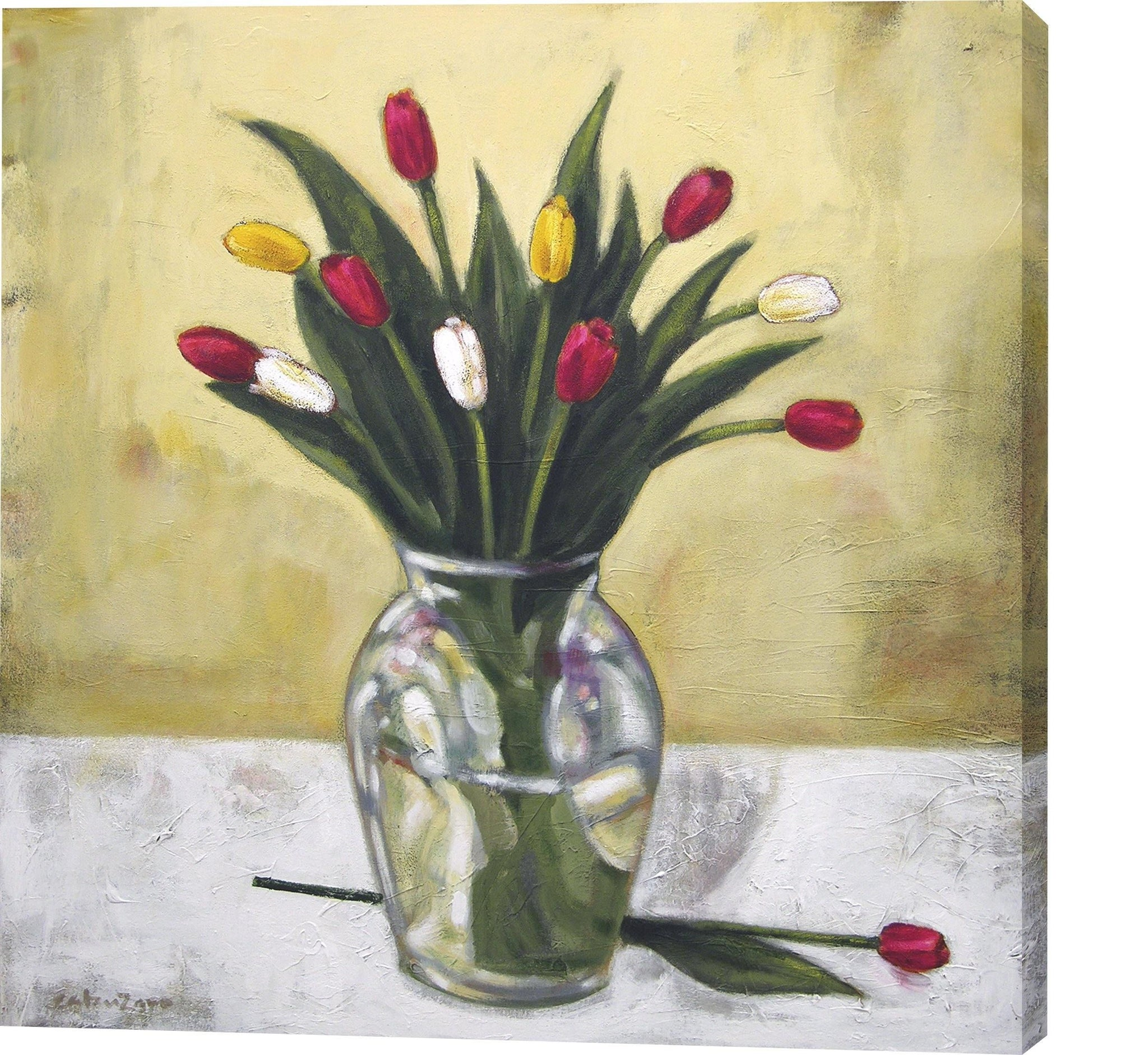 "Floral Canvas Print - ""Tulips from the Garden"""
