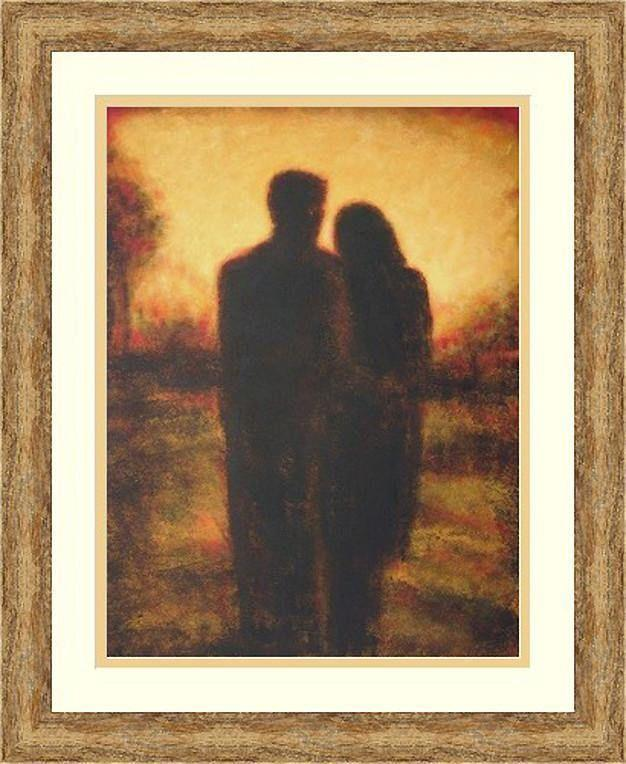 Framed Couple Painting