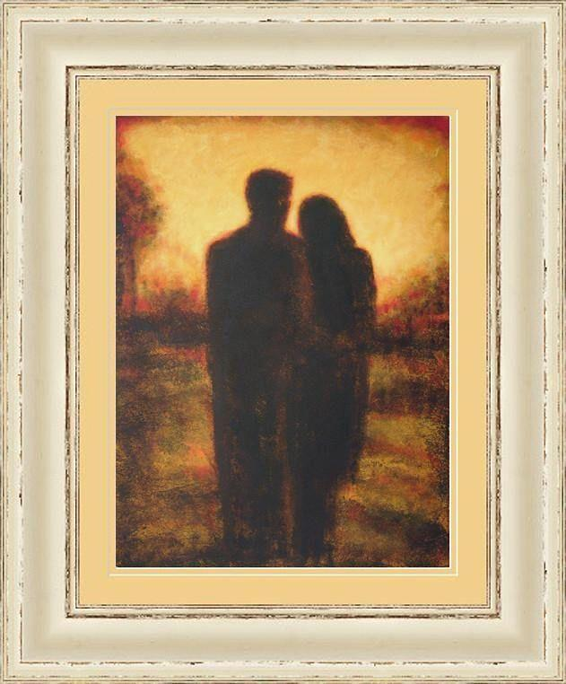 Painting of Romantic Couple.