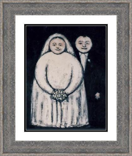 Framed Vintage Print - Wedding Couple