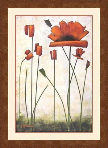 "POPPY ART PRINT- ""Blooming Poppy"" #1"