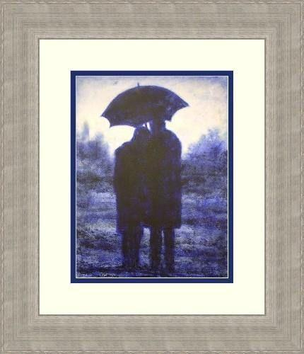 """Walking in the Park"" Framed Print"