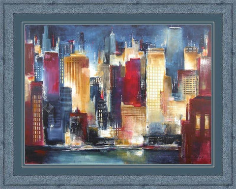 Framed Fine Art Print - Windy City Nights