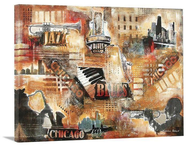 "Music Art Canvas Print - ""Chicago Jazz and Blues"""