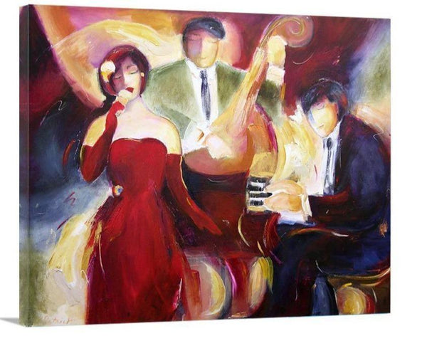 Jazz Art Music Print on Canvas - Jazz Trio