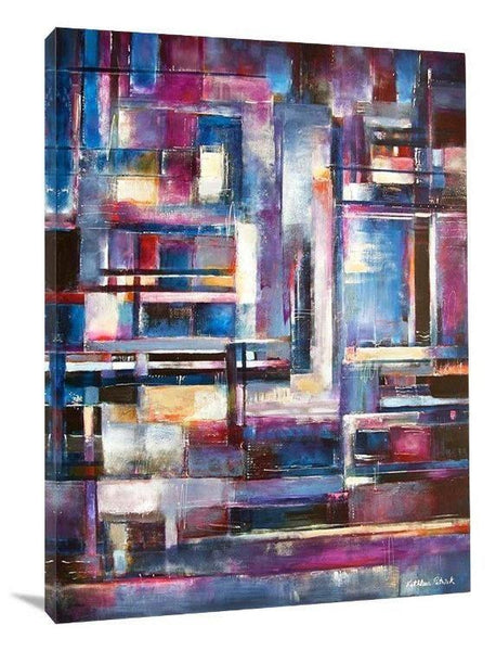 "Abstract Cityscape Canvas Print - ""In the City"" - Chicago Skyline Art"