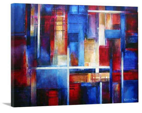"Colorful Abstract Cityscape Canvas Print - ""City Lights"" - Chicago Skyline Art"