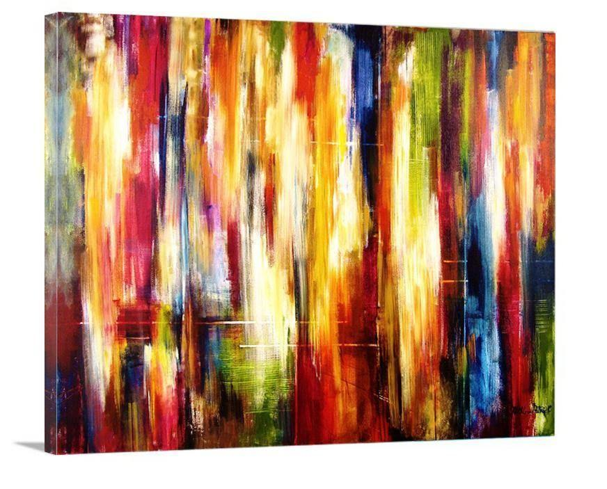 "Colorful Abstract Canvas Print -""Amidst The City Rhythms"" - Chicago Skyline Art"