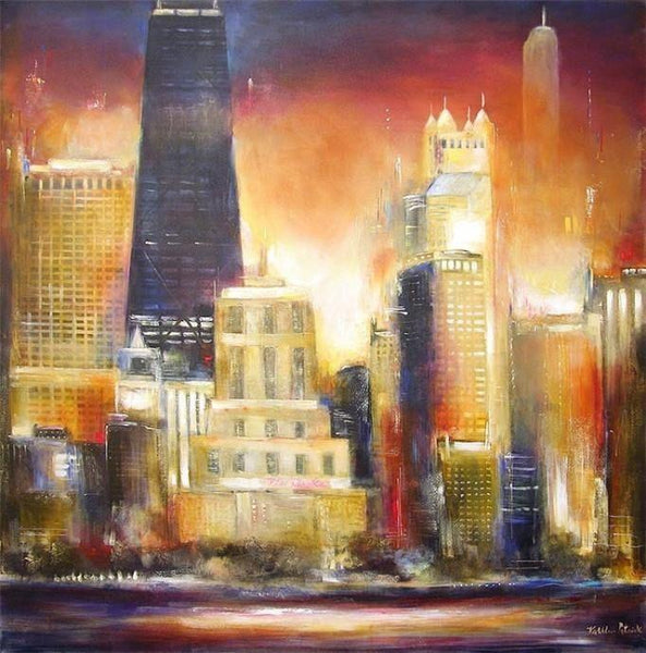 Chicago painting print on canvas