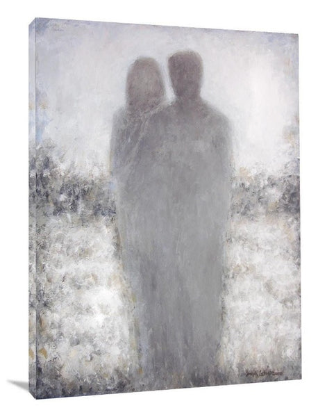"Romantic Couple Canvas Neutral Art Print - ""Here With You"""