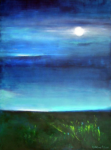 "Contemporary Landscape Art Canvas Print - ""Moonlight"""