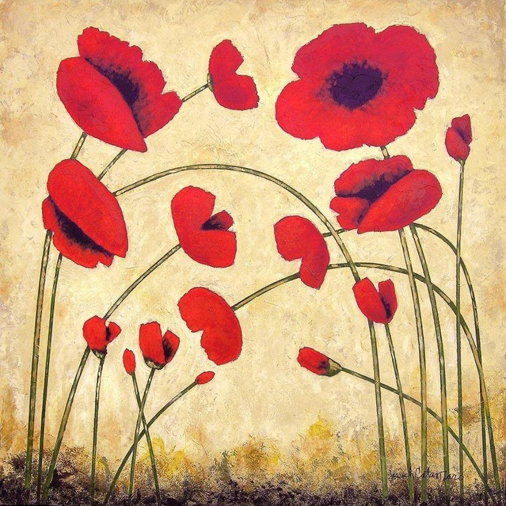"Red Poppy Canvas Print - ""Bright Red Poppies"""