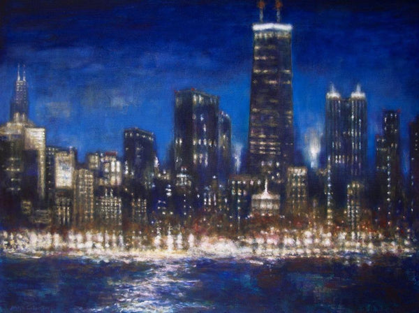 "Chicago Skyline Canvas Wrap Print  - ""Chicago 2017"""