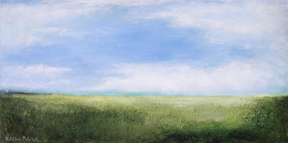 "Landscape Painting Print on Canvas - ""On a Happy Summer Day"""