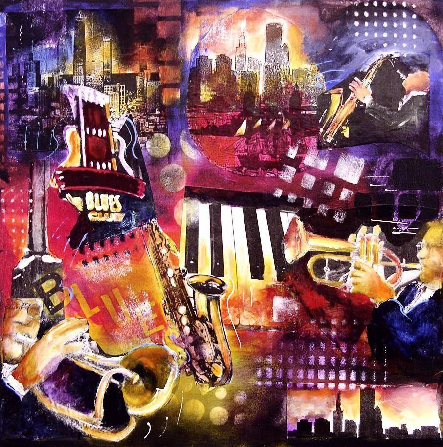 Chicago Cityscape Print - Music art