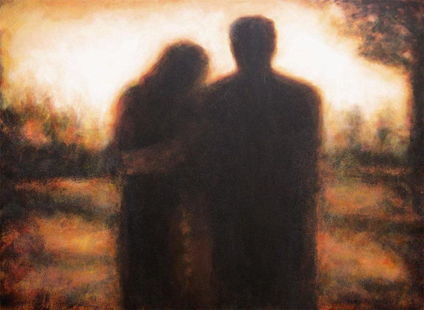 'Couples In Love'  painting - watching a sunset