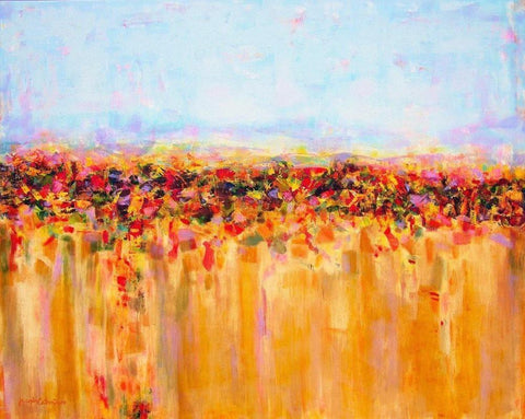 Landscape Painting Print - Tuscan Fields