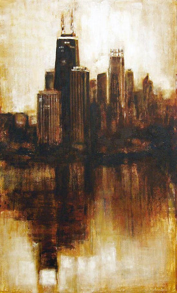 "Chicago Skyline Print on Canvas  - ""The View From Lincoln Park"""