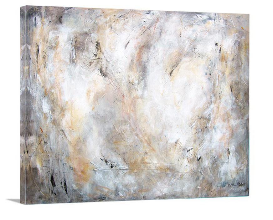 "Abstract Painting Print in Neutral Colors - ""The Essence of Time"""