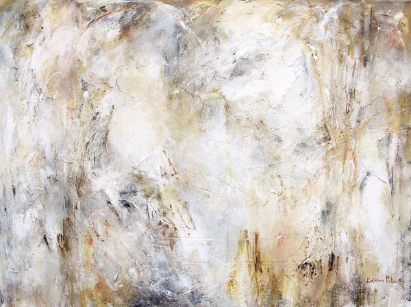 neutral color abstract painting print - Traces of Time