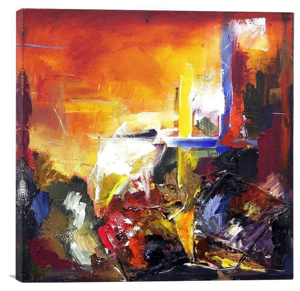 Bright Colored Abstract Wall Art on Canvas