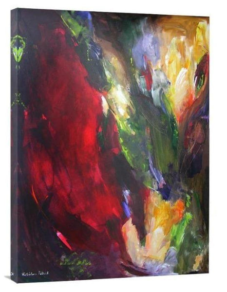 "Abstract Art Canvas Print - ""From the Garden"""