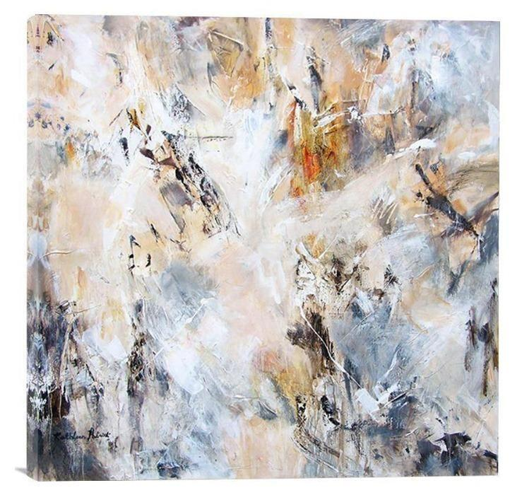 "Abstract Canvas Print in Neutrals - ""With Traces of Time"""