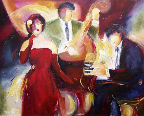 Jazz Print on Canvas - Jazz Trio