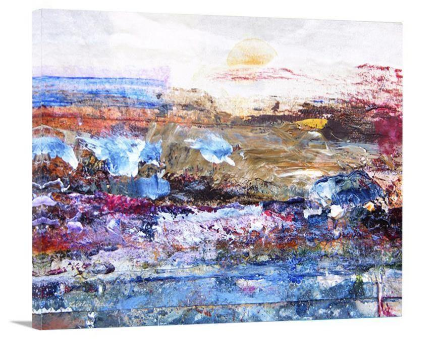 "Abstract Landscape Painting Print - ""A Day at the Beach"""