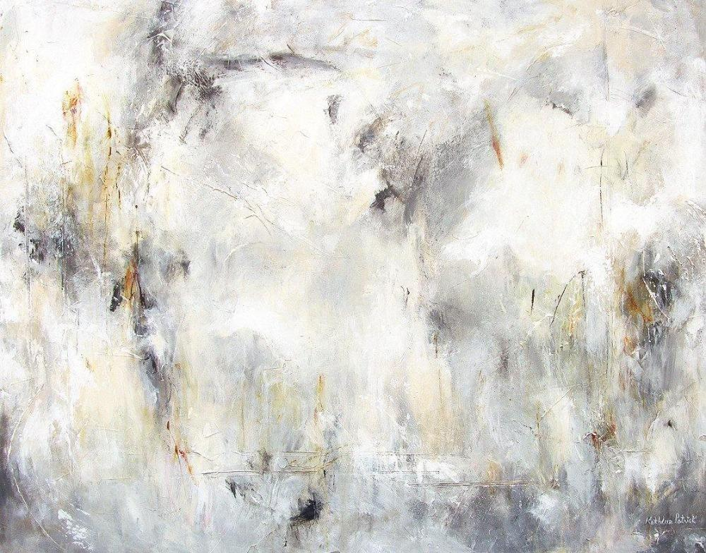 5fb76ae12c2 Gray and White Abstract Print on Canvas -Traces of Time - Chicago ...