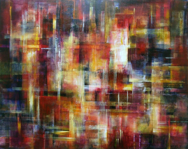 Abstract Cityscape Art - City Lights