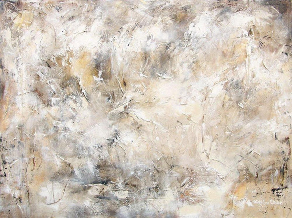 Neutral Abstract Painting Print