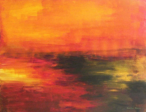 Abstract Landscape - Sunset on the Cove