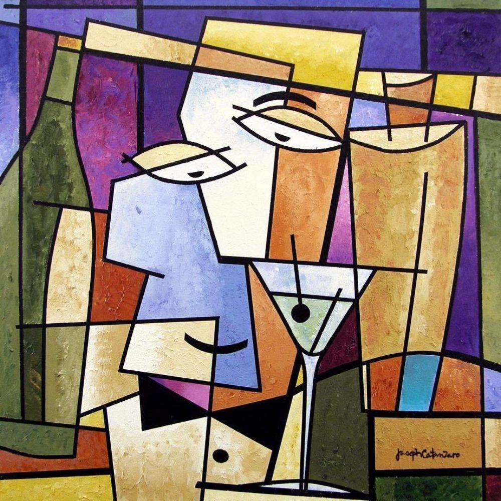 Cocktail Art Print - Cubist