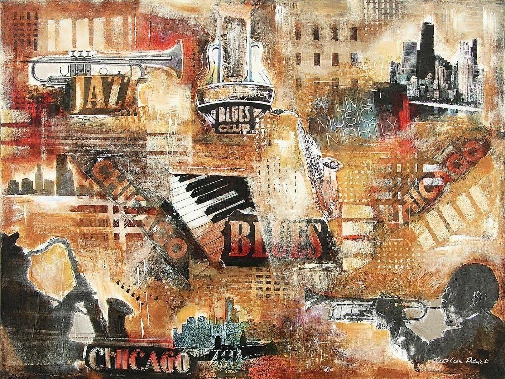 "Music Art Print - ""Chicago Jazz and Blues"""