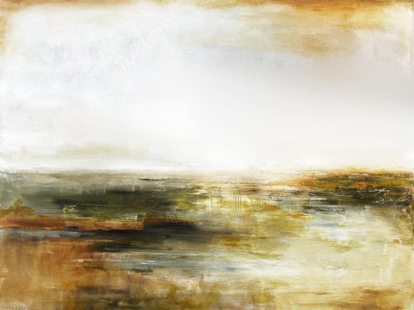 "Neutral canvas art giclee - ""Lowlands"""