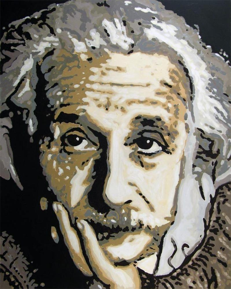 Painting of Albert Einstein