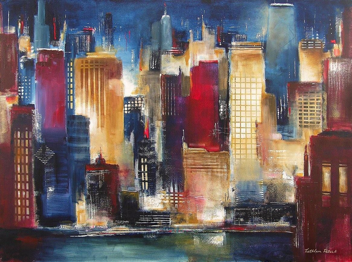 Black Framed Print  - Windy City Nights""