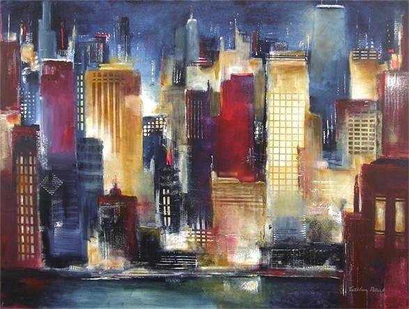 Painting print- Windy City Nights