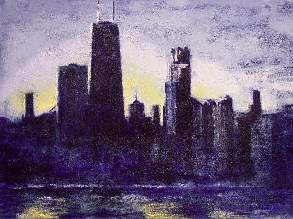 Chicago Skyline print on canvas