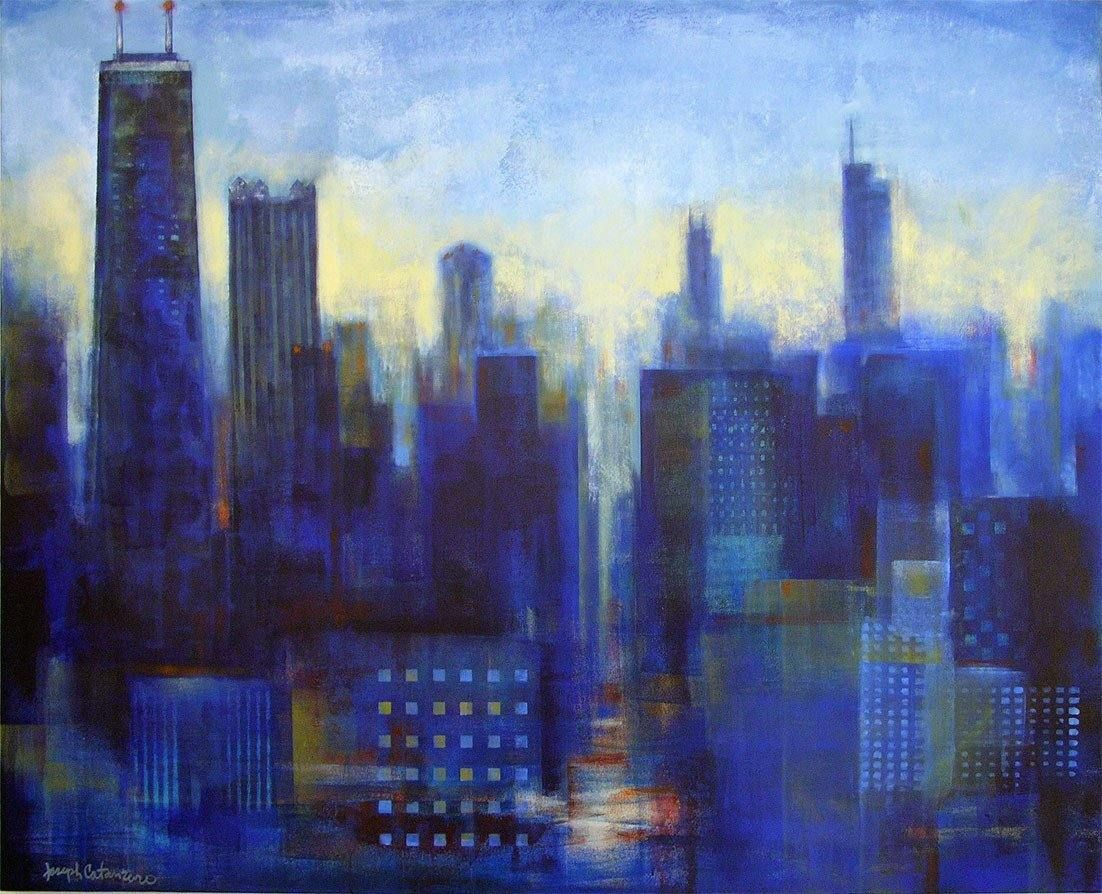 Print of Chicago skyline.