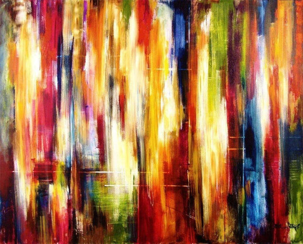 abstract cityscape painting - print on canvas
