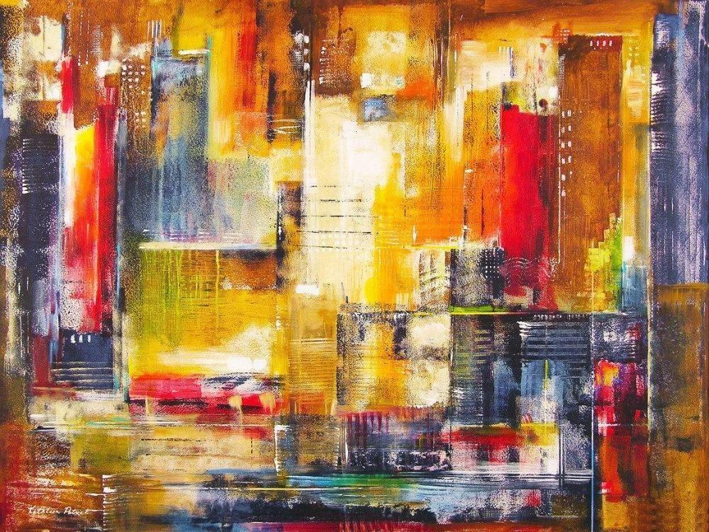 Buy :: An Abstract Chicago Cityscape Painting Print. Dynamic Wall ...