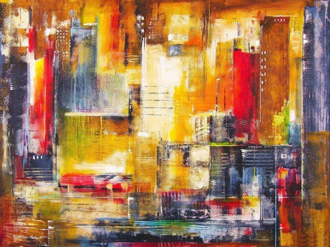 Abstract cityscape painting of Chicago.